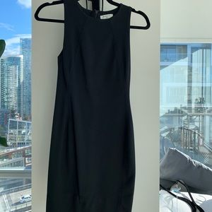 Black Babaton Dress With Slit At The Back